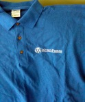 WordPress logo embroidered