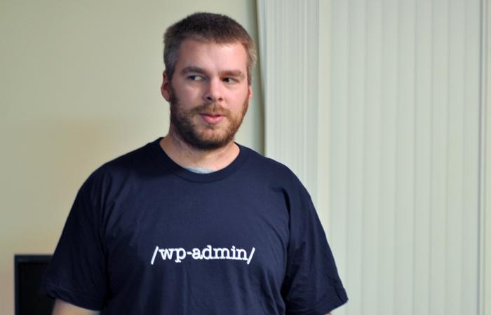 wp-admin WordPress shirt